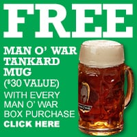 Man O' War Tankard Mug Freebie