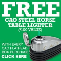 CAO Flathead Steel Horse Table Lighter Freebie