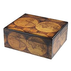 Old World Antique Finish Small Humidor