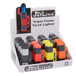 JetLine New York Triple Flame Torch Lighter Display