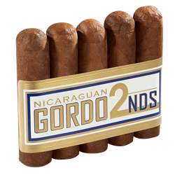"Nicaraguan Gordo 2nds 60 Habano (4.0""x60) Pack of 5"