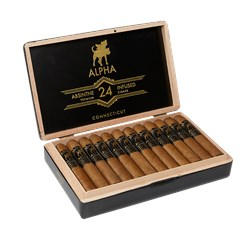 "Absinthe Infused Connecticut Robusto (5.0""x50) Box of 24"