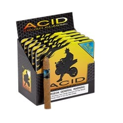 "ACID Cigars by Drew Estate Krush Blue Connecticut (Cigarillos) (4.0""x32) Pack of 50"