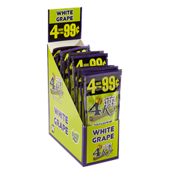 "Good Times 4Ks Cigarillos White Grape (4.2""x27) Box of 60"