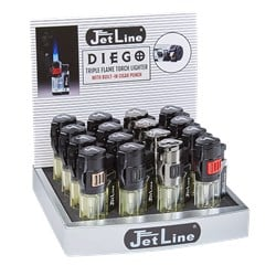 JetLine Diego Triple Flame Torch Lighter Display