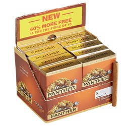 "Panther Cognac Non-Filtered (Cigarillos) (3.1""x20) Pack of 140 [10/14]"