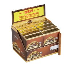 "Panther Cafe Deluxe Non-Filtered (Cigarillos) (3.1""x20) Pack of 140 [10/14]"