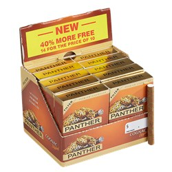"Panther Cognac Filtered (Cigarillos) (3.1""x20) Pack of 140 [10/14]"