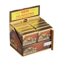 "Panther Cafe Deluxe Filtered (Cigarillos) (3.1""x20) Pack of 140 [10/14]"