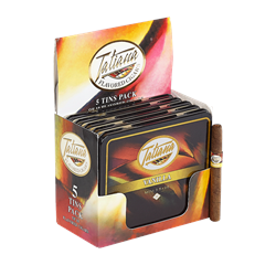 "Tatiana Flavored Tins Vanilla (Cigarillos) (3.5""x26) Pack of 50"