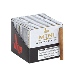 "Villiger Mini Cigarillos Sumatra (2.8""x21) Brick of 100 [10/10]"