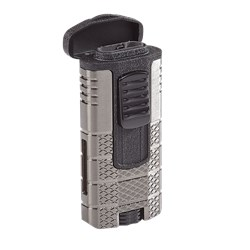 Xikar Tactical Triple Torch Lighter - Gold and Black  Gun Metal/Black