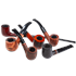 Basket Briar Pipe Assortment Manufactured Pipes