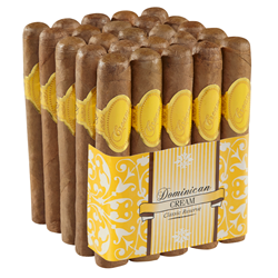 "Dominican Cream Robusto (5.0""x52) Pack of 25"